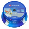 EUR 12,29 - Verbatim DataLife Blu-ray Disc BD-R 25 GB / 135 min 6x, Full printable, 25 stuks in cakebox